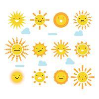 Flat Sunny Faces