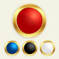 luxury golden round buttons set in different colors