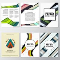 Fondo de moda fresca flyer estilo fondo plantilla de diseño