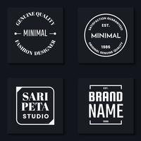 Minimales Vektor-Logo für Banner