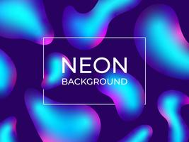 Neon Fluid Abstract Background vector