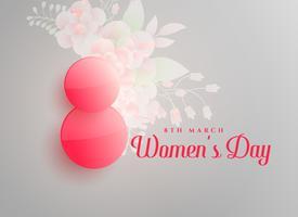 8 de março fundo de dia feliz feminino