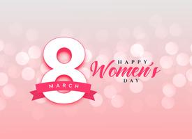 lovely happy women's day celebration card design background