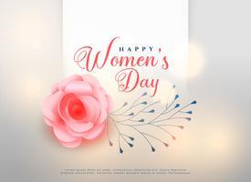tarjeta de fondo flor rosa feliz día de las mujeres