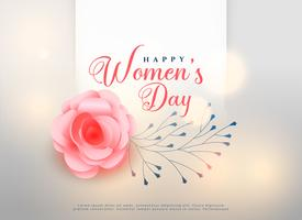 happy women's day rose flower background card