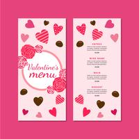 Lovely Valentine´s Menu With Hearts And Chocolate