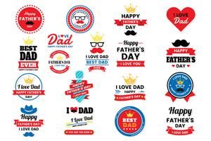 father day Birthday Vector Logo for banner