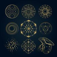 Formas de geometría sagrada.