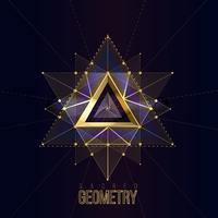 Geometria sagrada isolado formas de ouro sobre fundo de cor escura