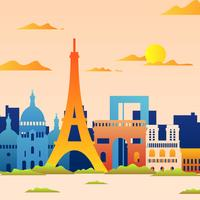 Colorful Landscape of Paris Skyline