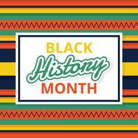 Black Month Month Vector