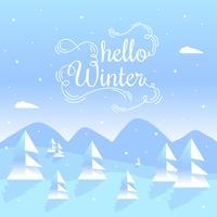 Hello Winter Vector Background