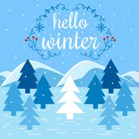 Hallo Winter vectorillustratie