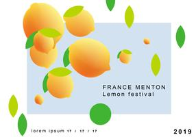 Menton France Citron Festival Vector Design