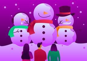 Besneeuwde Sapporo sneeuw festival vectoren