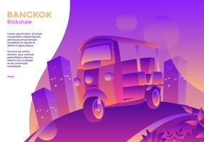 Vector del carrito de Bangkok