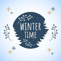 Vintertidvektor