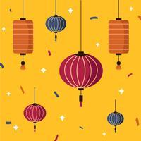 Vector de festival de linterna de cielo de Taiwan
