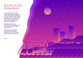 pattaya playa bangkok vector