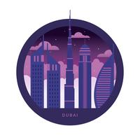Ilustração do vetor de skyline de Dubai