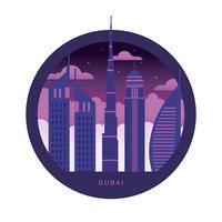 Dubai Skyline Vector Illustration