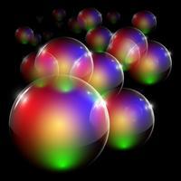 Kleurrijke duidelijke vectorbel