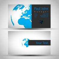 Vector earth business-card front and back