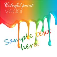 Realistic vector colorful paint trickling