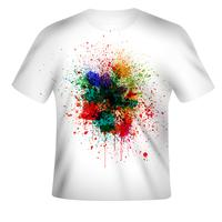 Vector design de t-shirt com design colorido