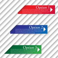 Numbered templates - vector design