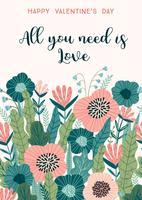 Blomsterdesignkoncept för Alla hjärtans dag och andra användare.