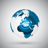 Earth globe vector illustration for advertising