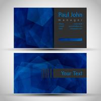 Abstract business card front and back vector
