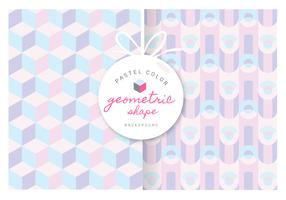Geometric Pattern With Pastel Color Vector Background