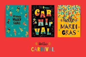 Hallo Karneval. Vektorvorlagen für Mardi Gras-Konzept und andere Benutzer