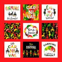 Brasilien Carnival. Ljusa festliga mallar.