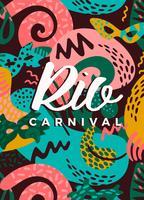 Brasilien Karneval. Vektorillustration mit modischen abstrakten Elementen.