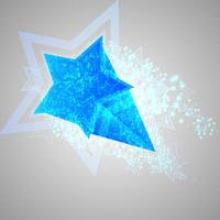 Blue vector star