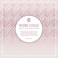 Flat Geometric Rose Gold Vector Background