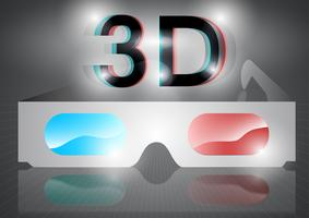 3D eyeglasses vector