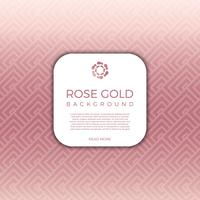 Flat Modern Geometric Rose Gold Vector Background