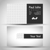 Abstrakte Visitenkarte vorne und hinten