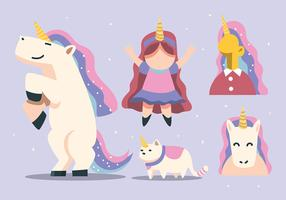 Wannabe Unicorn Clipart Set
