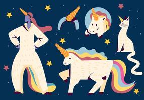 wannabe unicornio conjunto de imágenes