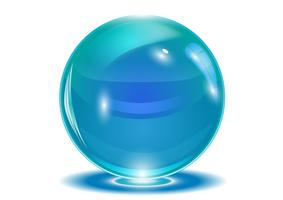 Blue abstract sphere, vector