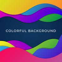 Bright Elements With Gradient Coloristic Transitions Background vector