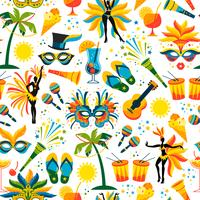 Brazilian Carnival. Vector seamless pattern.