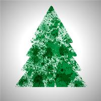 Árbol de vectores de Navidad hecho por salpicaduras de pintura derramada