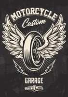 Vintage Biker Design med Winged Wheel
