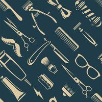 Barber Tools Vector textura perfecta